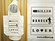 """KILLER DANCER LOVER"" トートバッグ"